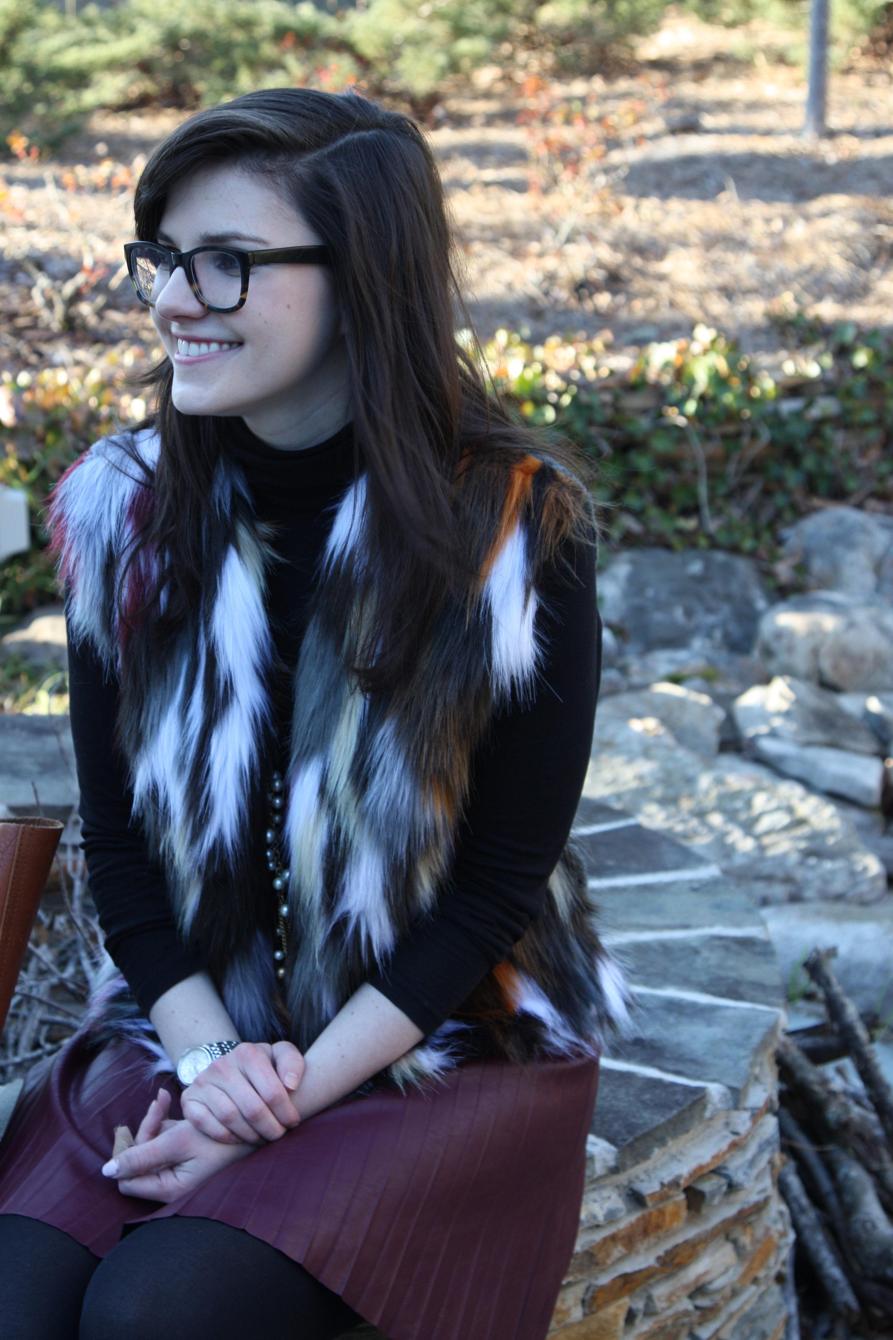 Burgundy Fur - Lefty Living Life