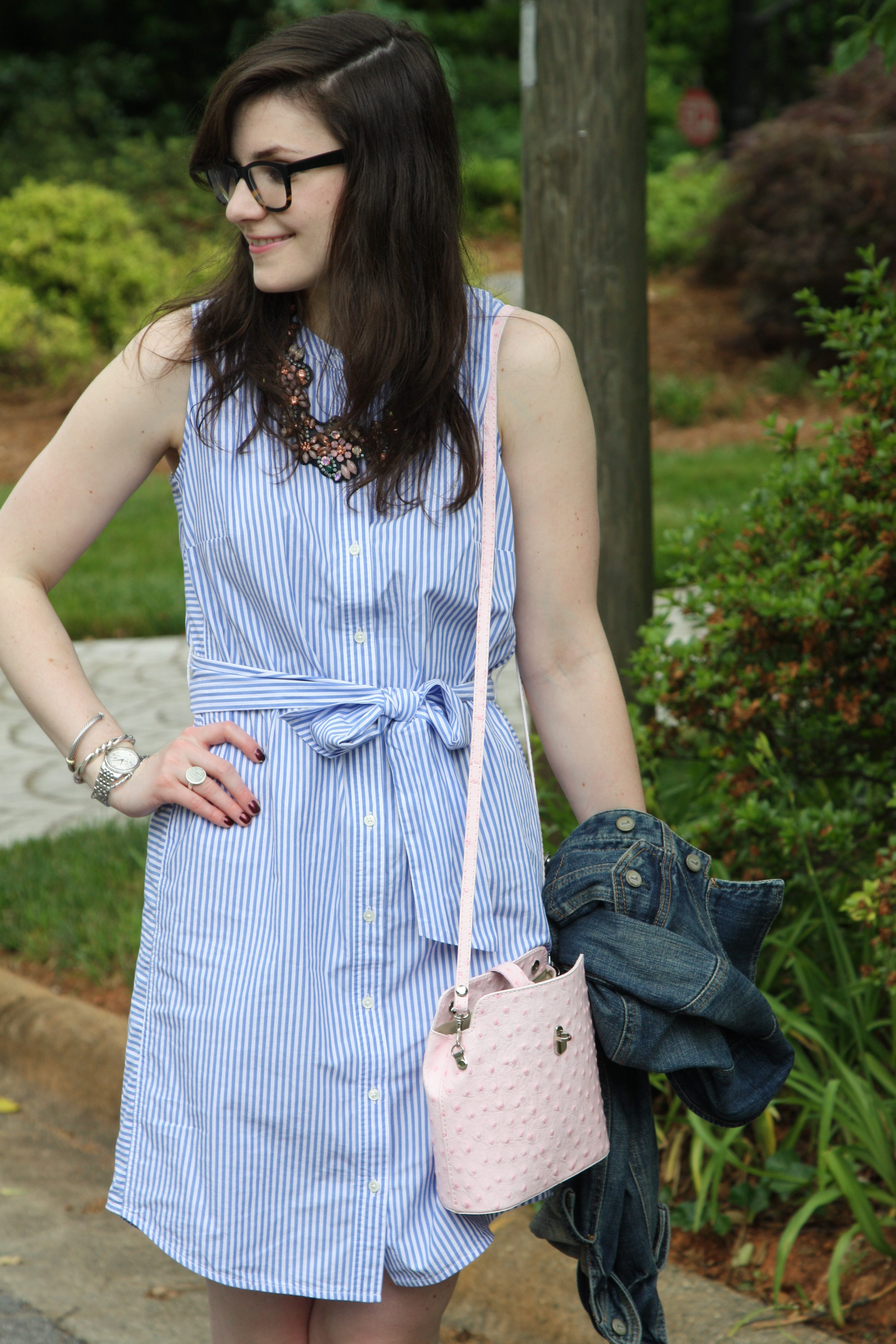 Pale Pink and Stripes - Lefty Living Life