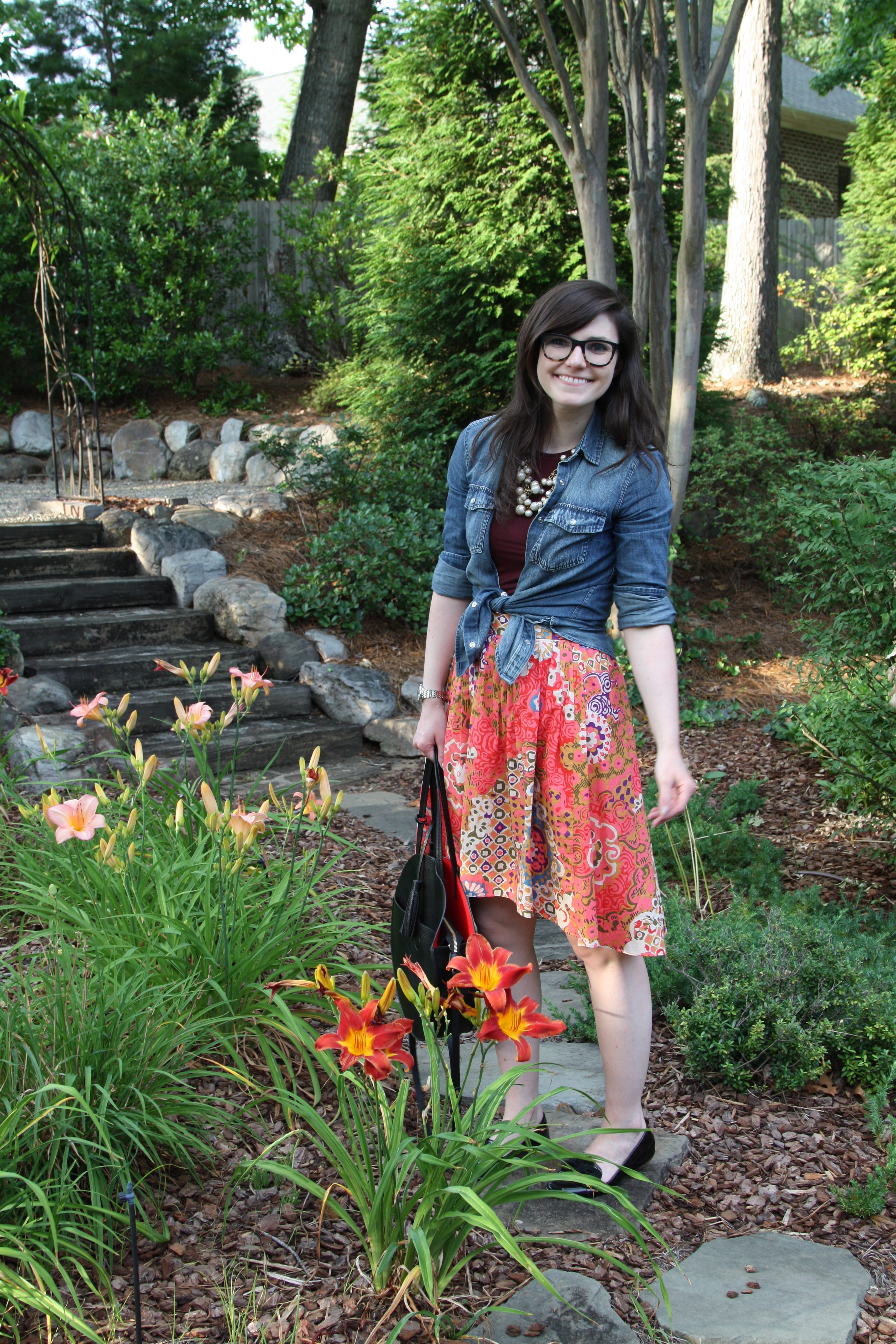 Patterns and Tied Chambray - Lefty Living Life