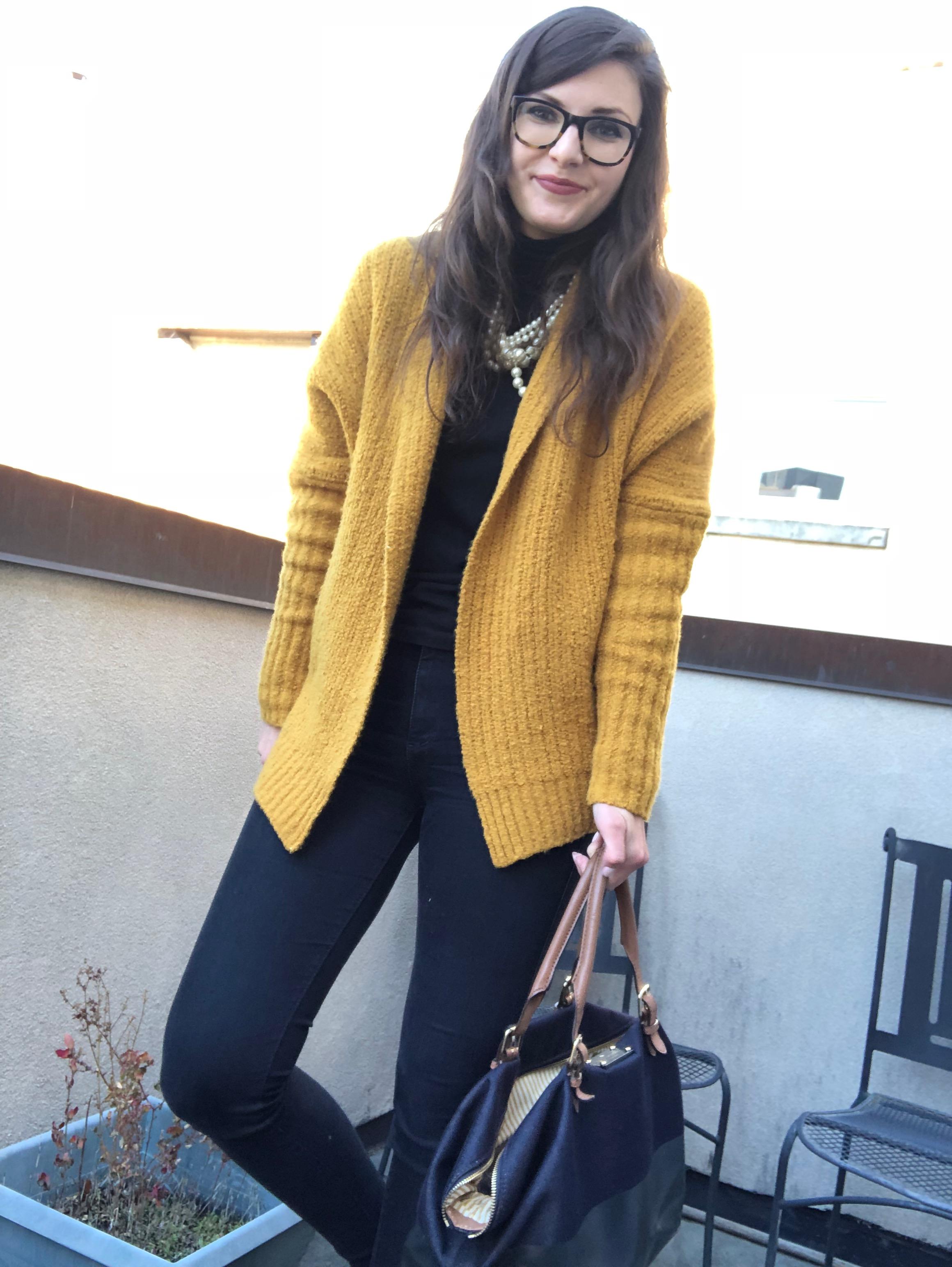 Mustard Chunky Knit